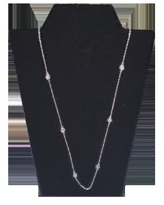 necklace white gold & diamonds